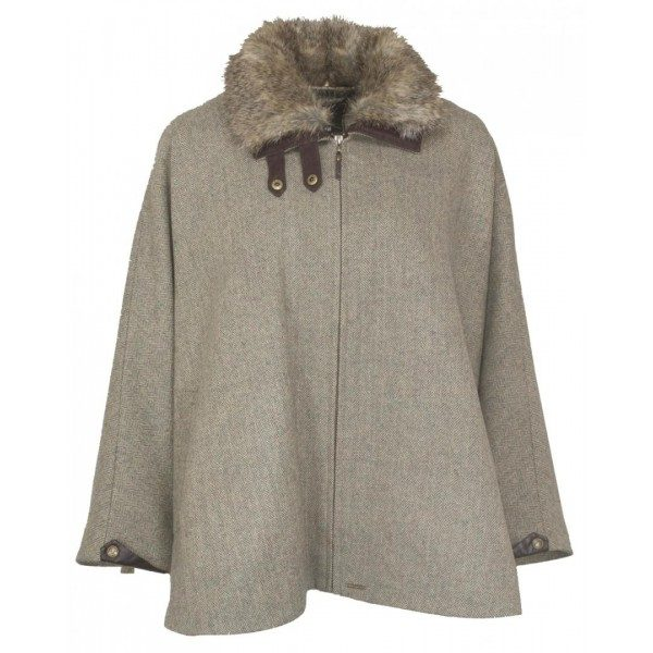 Toggi Ladies Blyth Tweed Cape-1055