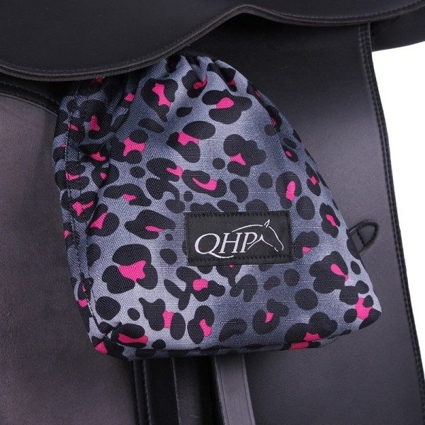 QHP Stirrup Covers Collection Pink Leopard-0